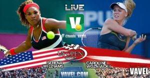 Final femenina US Open 2014: Serena Williams vs Caroline Wozniacki en vivo online