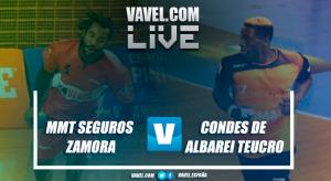 MMT Seguros Zamora vs Condes de Albarei Teucro en vivo y en directo online en Liga Loterías ASOBAL
