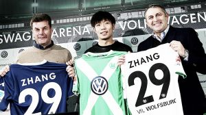 Xizhe Zhang officially unveiled as a Wolfsburg player