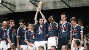 "Final de la Copa del Mundo 1998. Francia 3-0 Brasil. Primer campeonato para ""Les Bleus"""