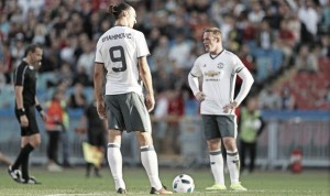 "Zlatan Ibrahimovic ""great"" to play with, says Wayne Rooney"