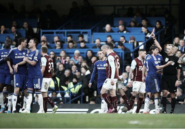 Chelsea 1-1 Burnley: 10 men Blues held by Burnley