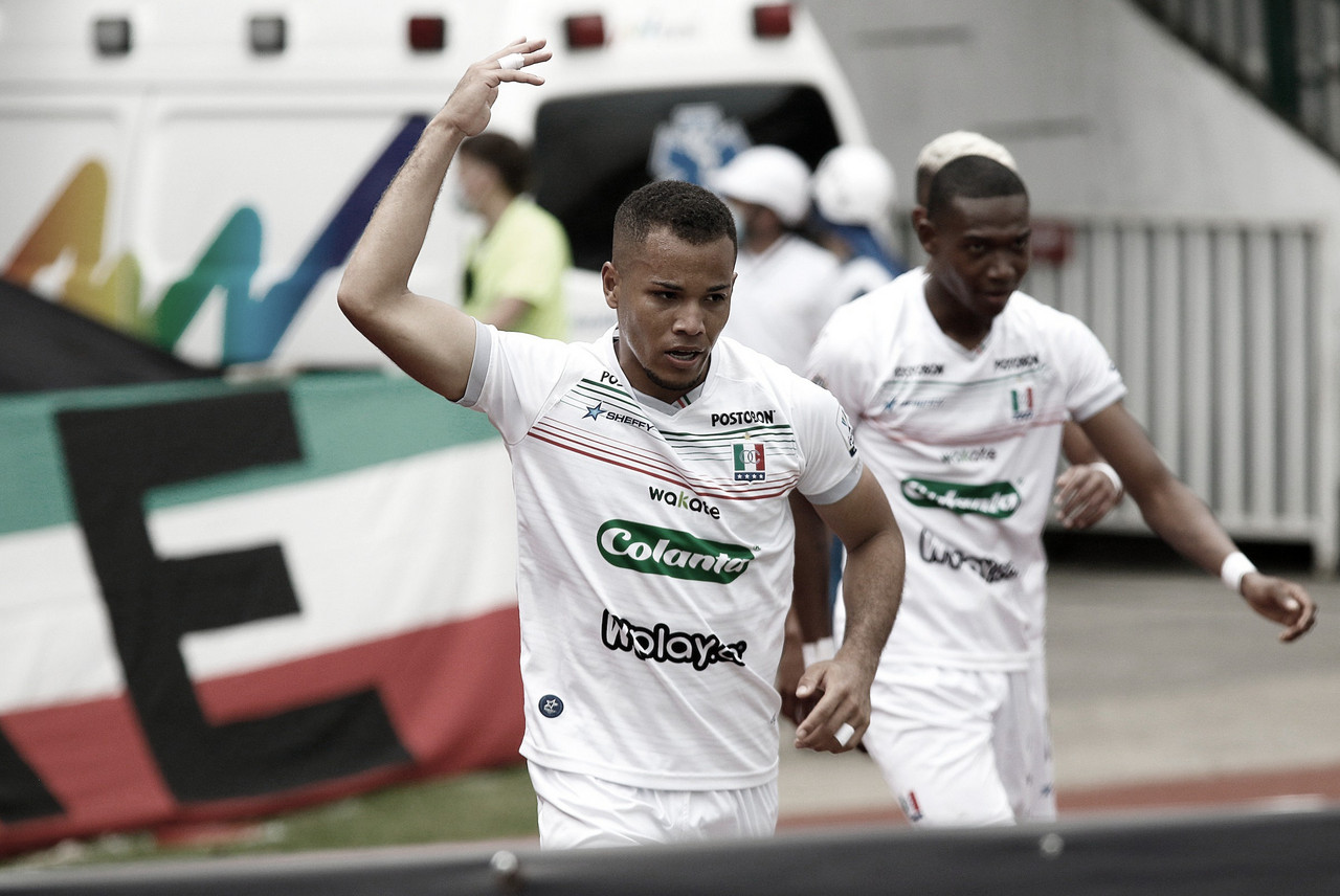 Robert Mejía, el jugador destacado de Once Caldas ante Bucaramanga
