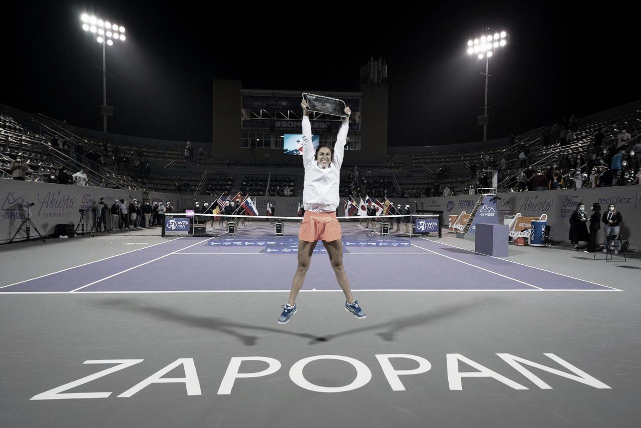 Sara Sorribes estrena palmares con el título en Guadalajara