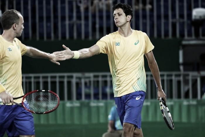 Melo e Soares vencem Djokovic/ Zimonjic e estão nas quartas da Rio 2016