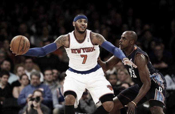Anthony faz história, quebra recordes, e Knicks atropelam Bobcats