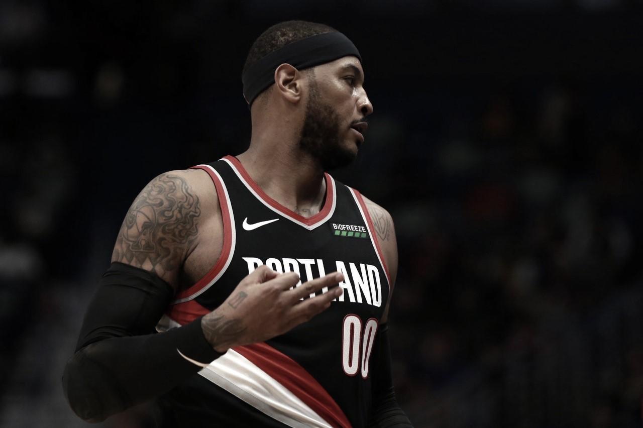 Pelicans spoil Carmelo's return to the league