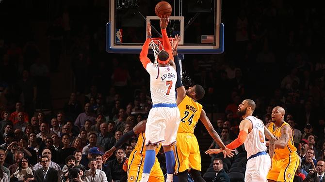 New York Knicks vence Indiana Pacers e empata a série
