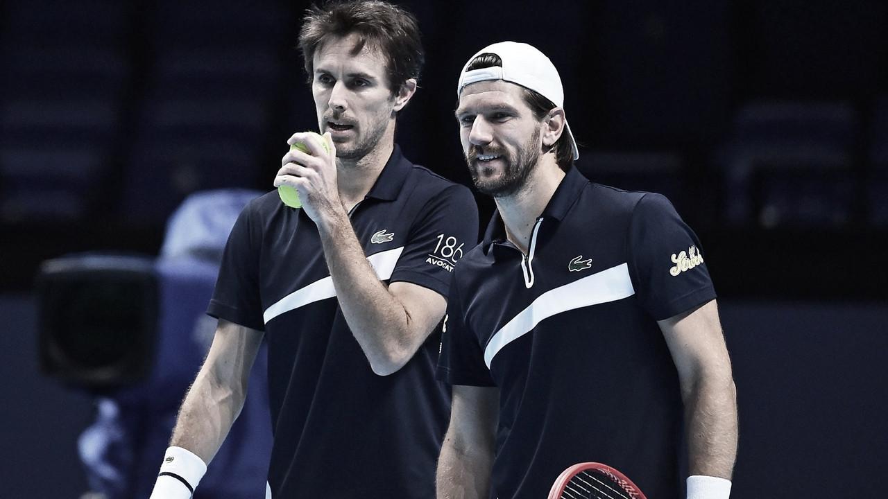 Melzer/Roger-Vasselin venceramRam/Salisbury no ATP Finals 2020 (ATP/Divulgação)