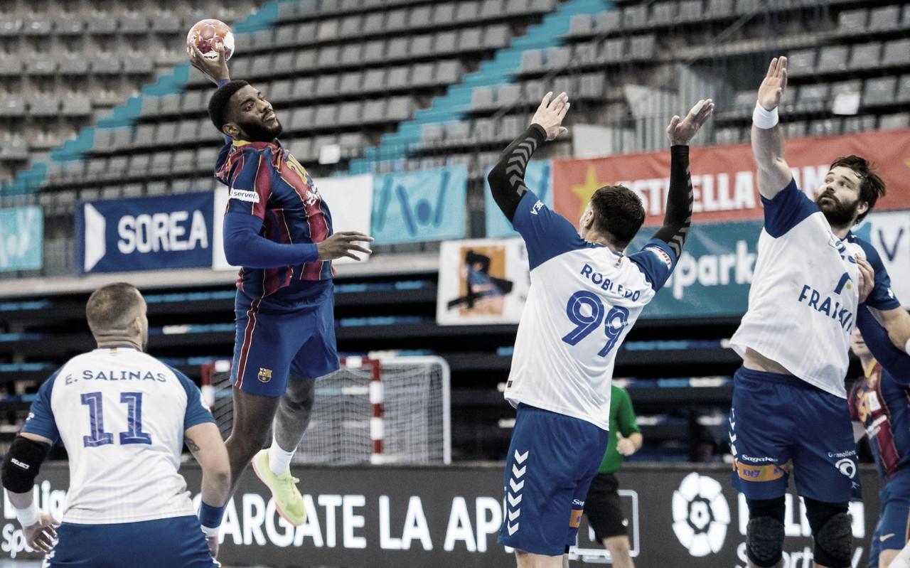 El Barça arrolla al Granollers en el derbi catalán (27-41)