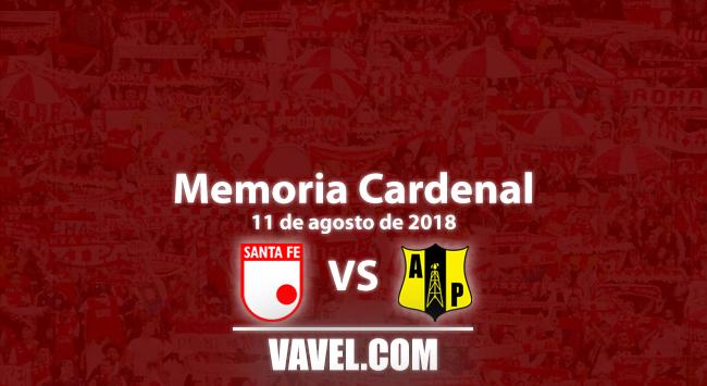 Memoria cardenal: primer triunfo de la historia de Santa Fe sobre Alianza Petrolera en Bogotá