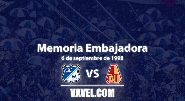Memoria embajadora: goleada histórica en 'El Campín' al Deportes Tolima