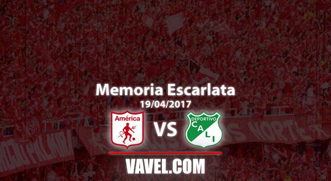 Memoria 'escarlata': goleada 3-0 en el clásico vallecaucano y gol récord en 2017-I