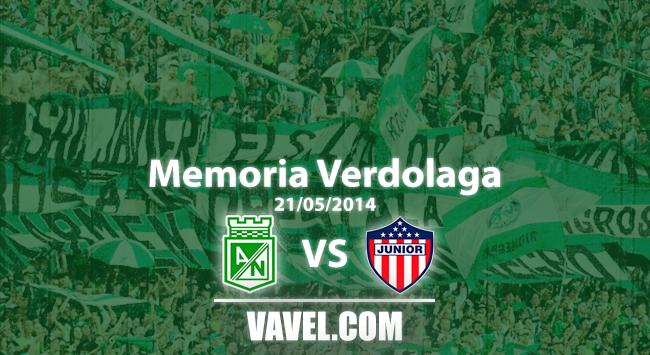 Memoria 'verdolaga': el agónico título del Nacional de Osorio ante Junior