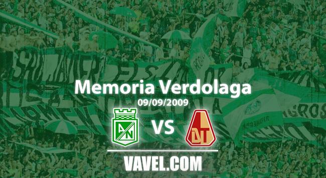 Memoria 'verdolaga': Atlético Nacional y Tolima empatan a 2 goles en la fecha 5 del finalización 2009