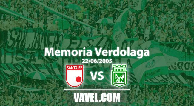 Memoria 'verdolaga': el juego de ida de la final en 2005 entre Santa Fe y Nacional