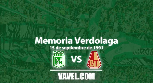 Memoria 'verdolaga': Nacional y un golpe de autoridad ante Deportes Tolima en el campeonato de 1991