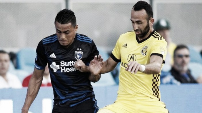San Jose Earthquakes defeated Original Six brother Crew SC 2-1