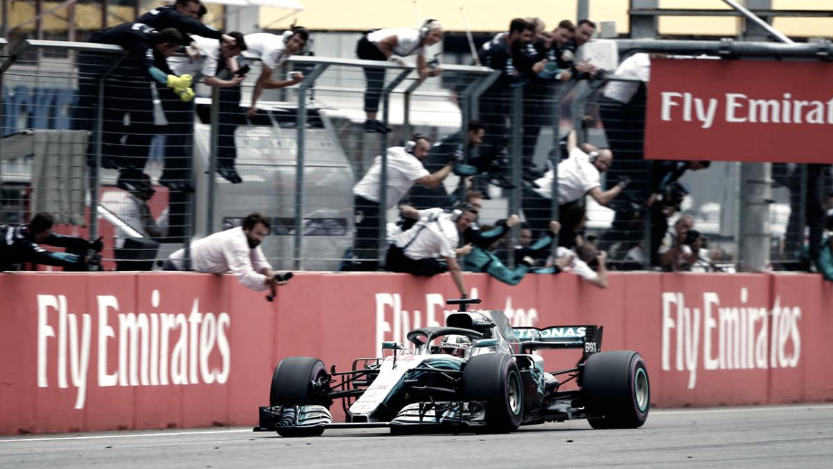 Hamilton se recuperó y ganó en Alemania