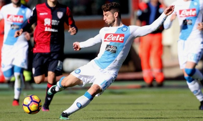 Serie A - Uragano Napoli al Sant'Elia: Mertens, Hamsik e Zielinski travolgono il Cagliari