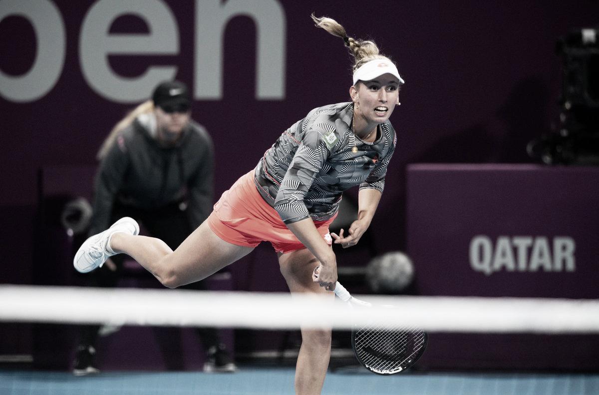 Mertens frustra Bertens e avança às semifinais de Doha