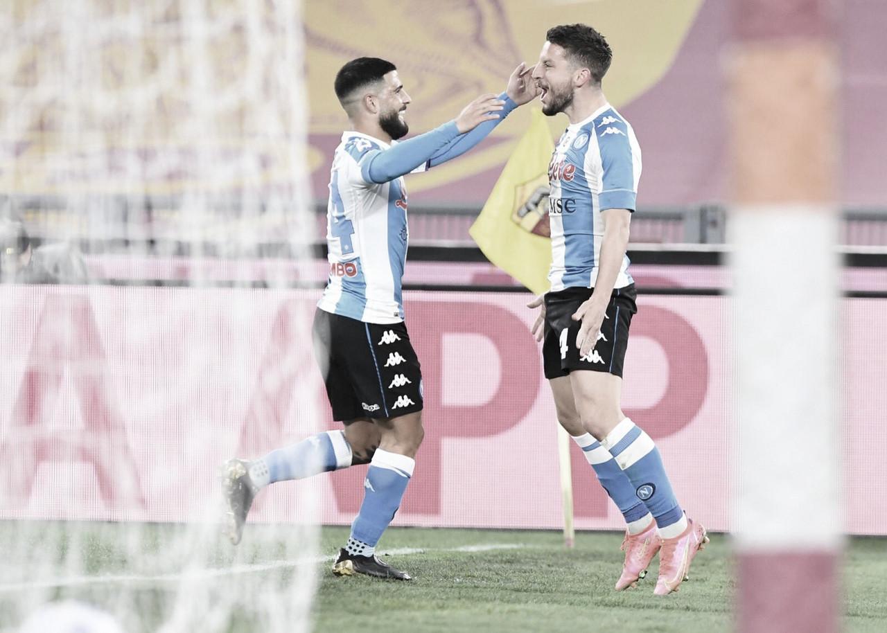 Com dois gols de Mertens, Napoli vence Roma e se aproxima do G-4 da Serie A