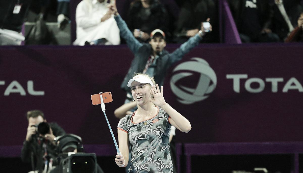 Mertens vence Halep de virada em Doha e conquista maior troféu da carreira
