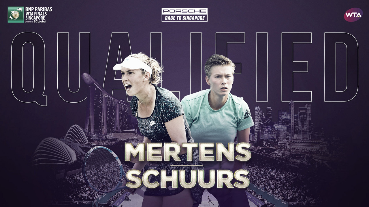 Elise Mertens and Demi Schuurs qualify for WTA Finals