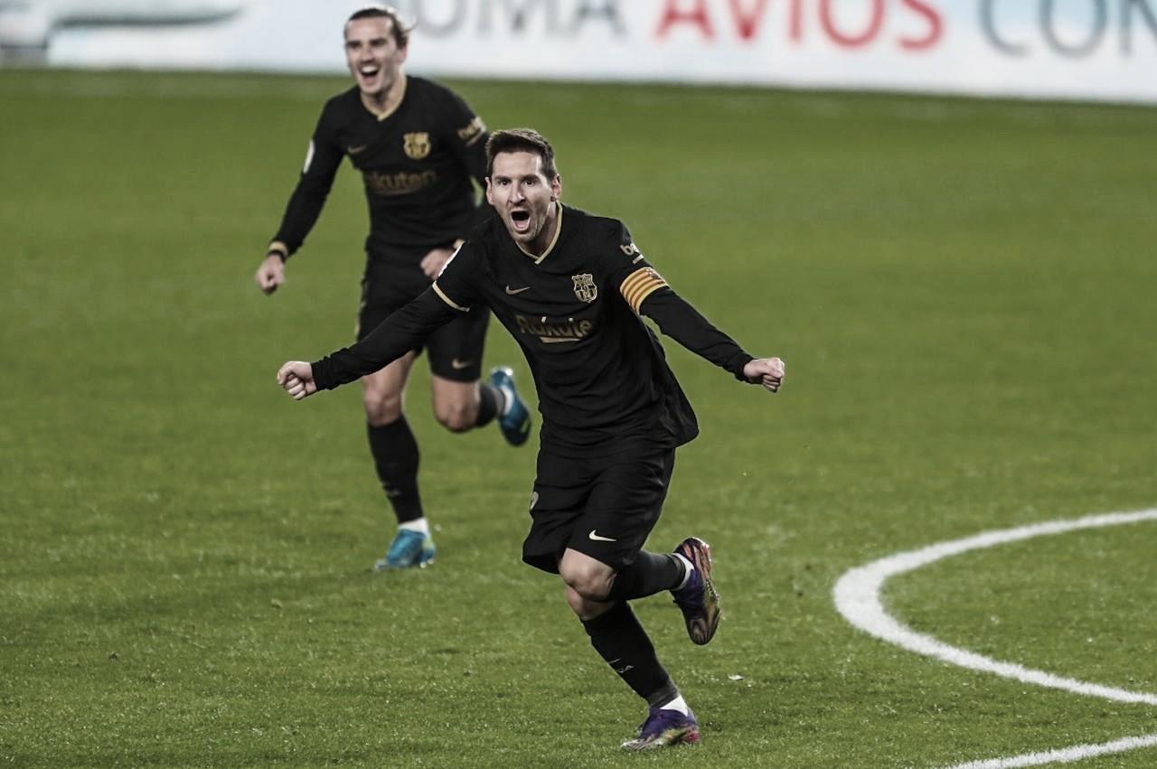 Com show de Griezmann e Messi, Barcelona goleia Granada em LaLiga