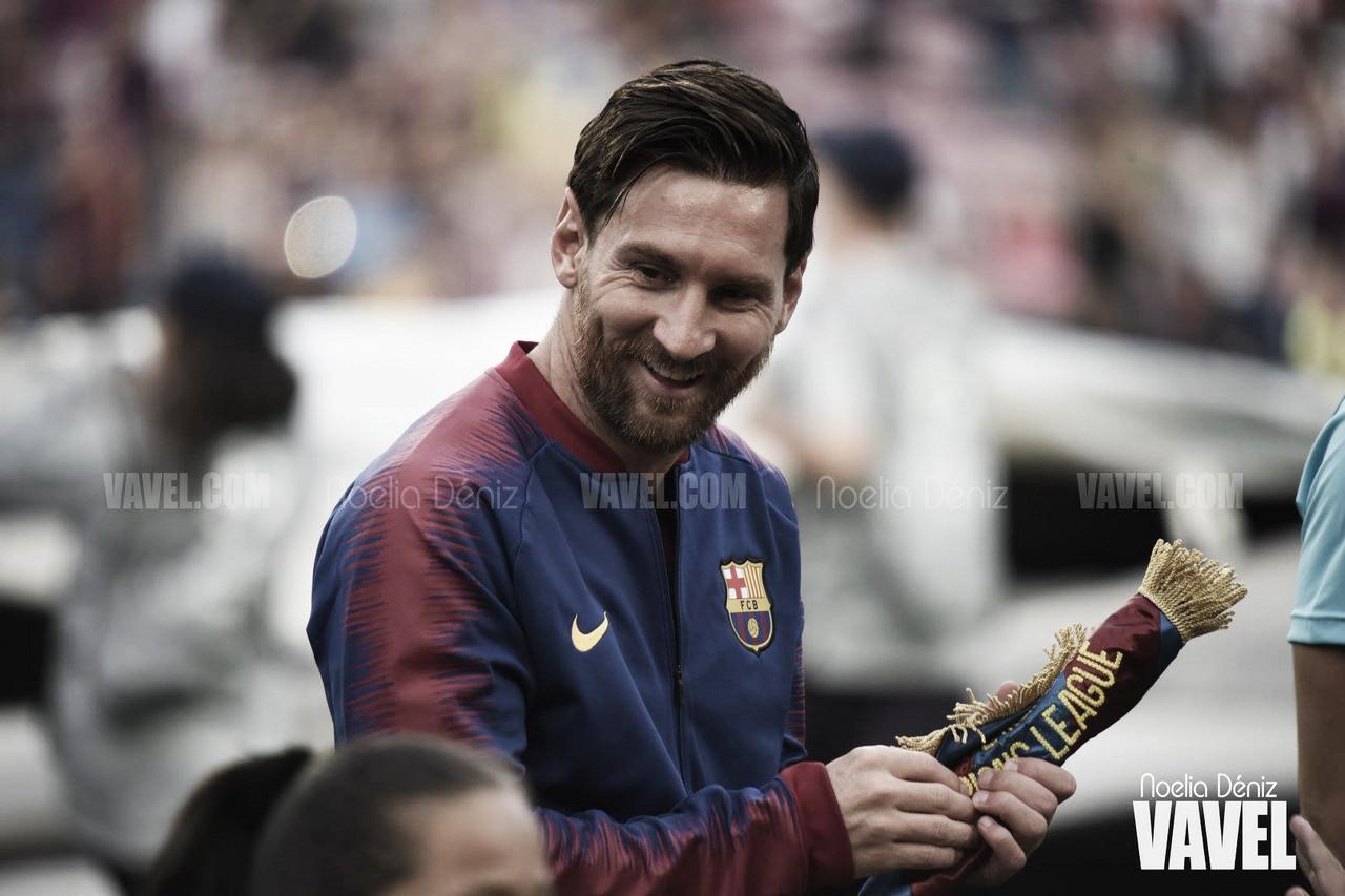 Leo Messi en el Camp Nou. | Foto: Noelia Déniz (VAVEL)