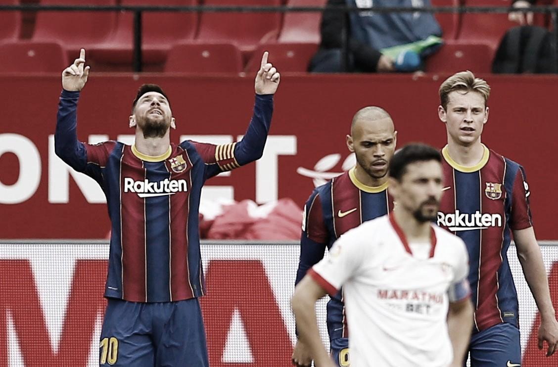 Messi decide em vitória do Barcelona contra Sevilla fora de casa