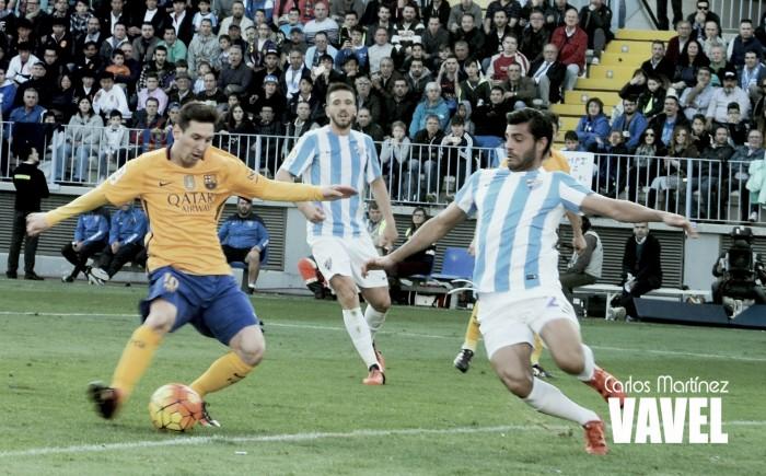 Fotos e imágenes del Málaga 1-2 Barcelona, jornada 21 de la Liga BBVA