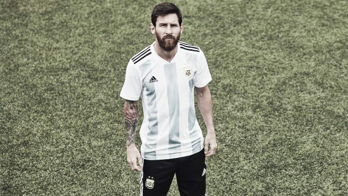 Se presentó la camiseta de la Argentina que usará en elMundial 2018