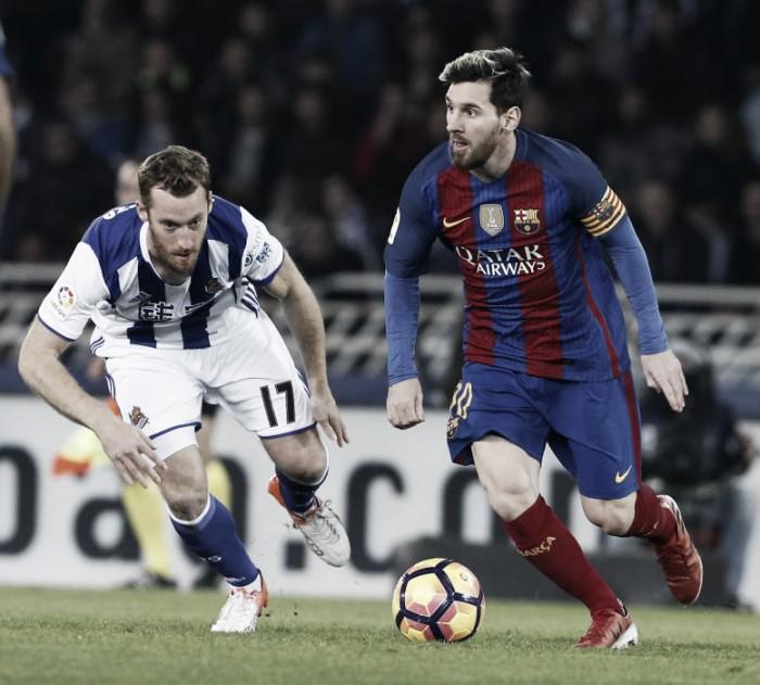 El Barça vuelve a tropezar en Anoeta