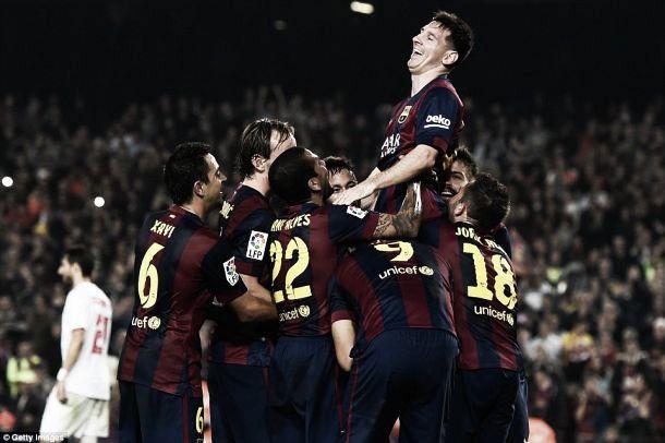 Barcelona 5-1 Sevilla: Messi breaks all-time league record as Barca thrash rivals