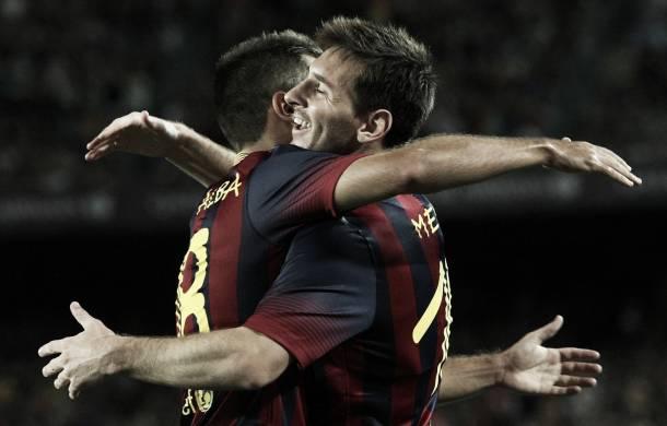 Primeras pinceladas del Barcelona de Martino ante el Santos