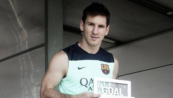 Messi consigue por tercera vez el premio Goal 50