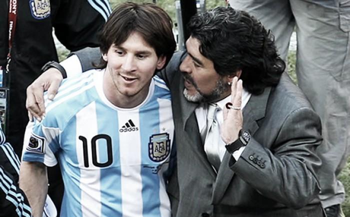 """Maradona: """"Le hacen poner la cara a Messi para tapar todos los desastres"""""""