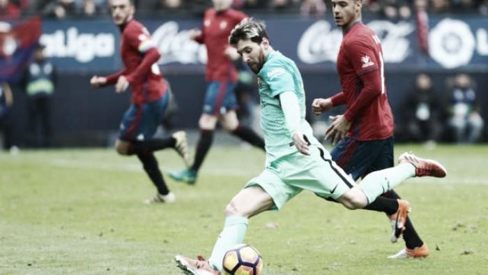 Messi sonríe a costa de Osasuna