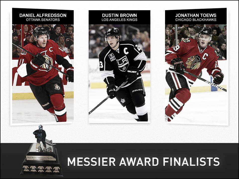 Alfredsson, Brown y Toews nominados al trofeo Messier