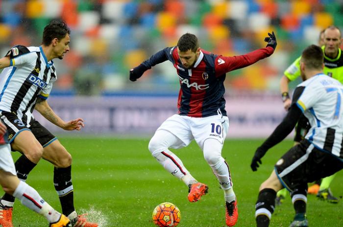 Gancio Destro del Bologna all'Udinese, vittoria al Friuli (0-1)