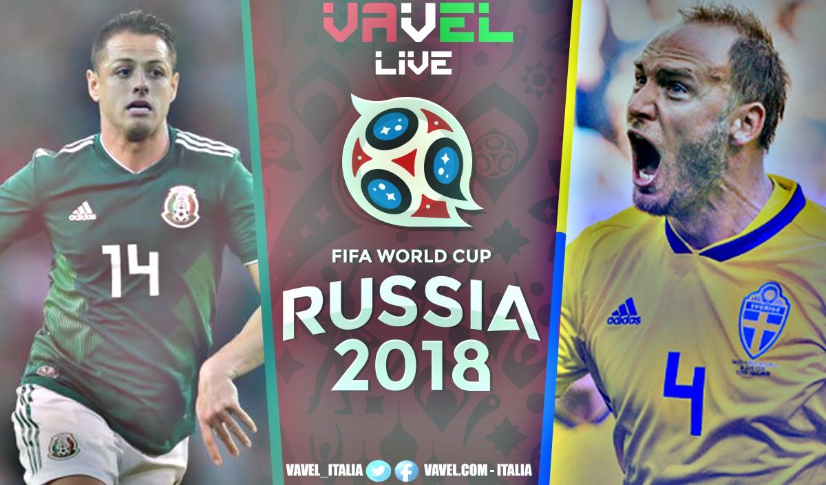 Risultato Messico - Svezia in diretta, LIVE MondialeRussia 2018 - Augustinsson, Granqvist (r), Alvarez (og)! (0-3)