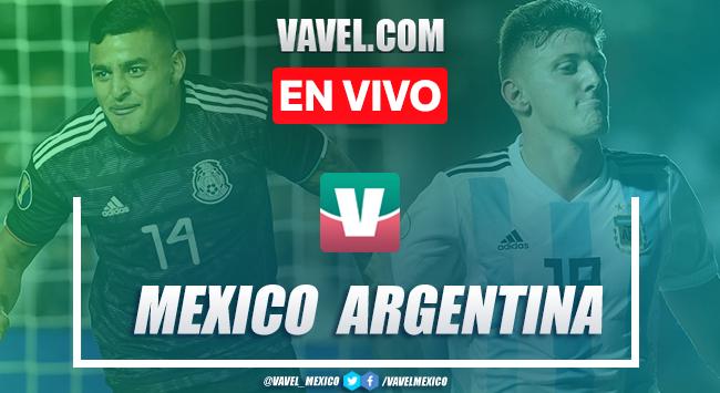 Goles y resumen México 2-2 Argentina en Amistoso Sub-22 2019