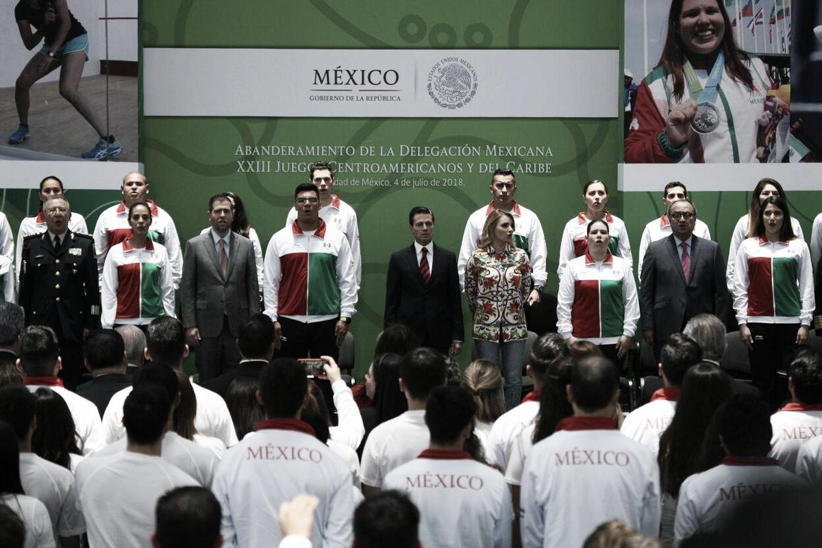 Abanderan a la delegación mexicana rumbo a los Juegos Centroamericanos y del Caribe 2018