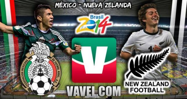 Resultado México - Nueva Zelanda en Repechaje Brasil 2014 (5-1)