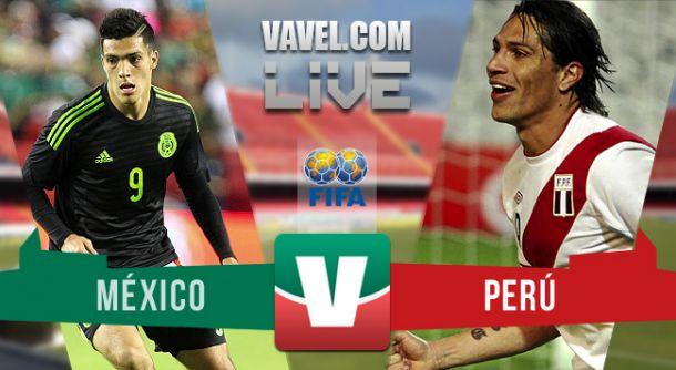 Resultado México - Perú 2015 (1-1)