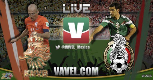 Resultado Holanda - México en Mundial 2014 (1-2)