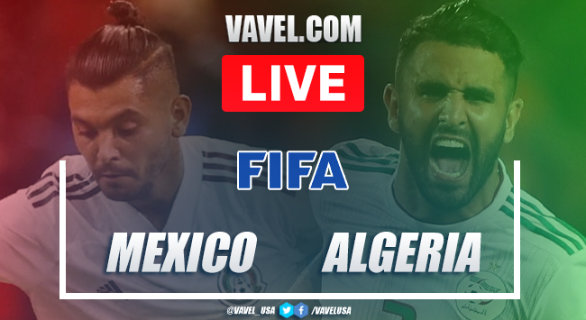 Goals and Highlights  Mexico 2-2 Algeria on friendly game of FIFA date 2020