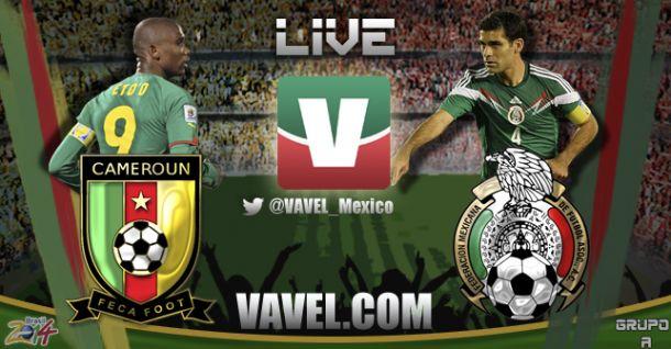 Resultado México - Camerún en Mundial Brasil 2014 (1-0)