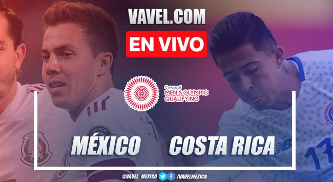 Goles y resumen del México 3-0 Costa Rica en Preolímpico CONCACAF 2020